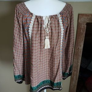 Flying Tomato Long Sleeve Top Size M
